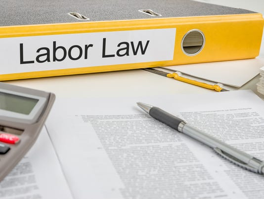 Folder with the label Labor Law
