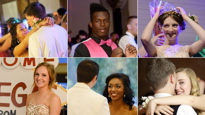 From top left, Jefferson, McKay and Central proms. From bottom left, Kennedy, McNary and Santiam.