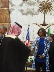 Not all Saudis who greeted the presidential couple