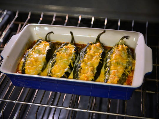 The stuffed Poblano pepper recipe that Kaitlyn and