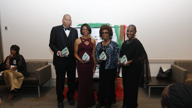 Honorees at the  African American Heritage Society of Rutherford County gala were, from left, Ron Washington, Racquel Peebles, Leonora (Boe) Washington and Gloria Bonner. Not pictured is Pierre Lyons. The event was held Saturday, Oct. 14, 2017 at MTSU's James Union Building.