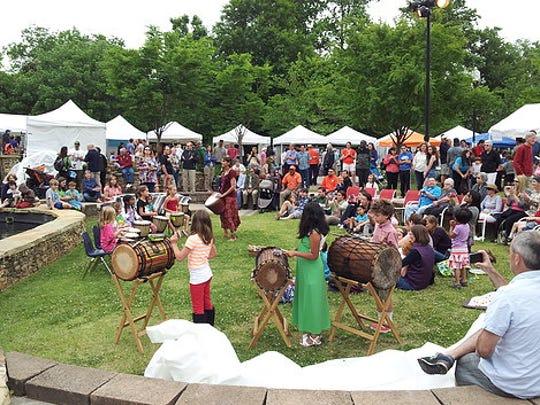 The Festival of Arts in Clemson fills Jaycee Park.