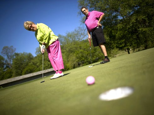 Karen and Larry Mannis golf in Dahlonega, Ga. Experts say you have the best opportunity for a successful retirement when you talk to your financial planner before you retire.