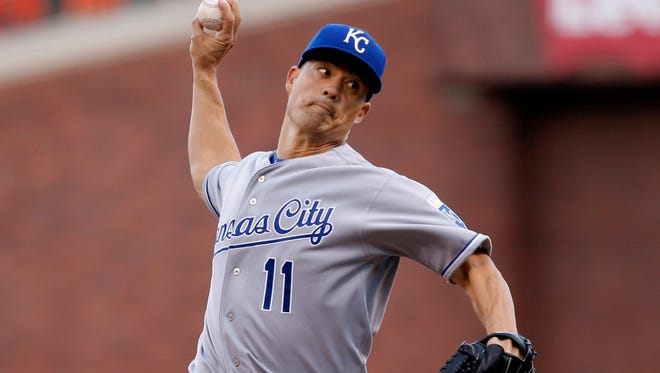 Jeremy Guthrie does not have a decision in two postseason starts.