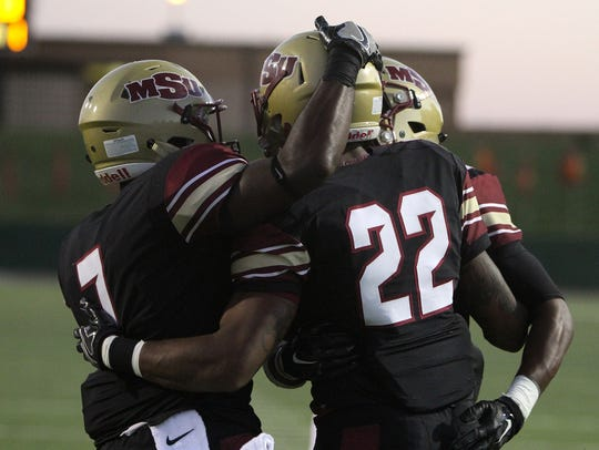 Midwestern State's Deandre Black (22) Angelo State