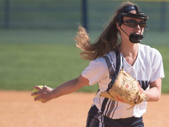 Mackenzie Stake pitches for Chambersburg. Chambersburg
