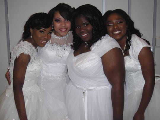 Delta Debs take time for a photo op: Jakya Simpson,