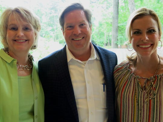 """Amy Bicknell and Patrick and Ginger Lukacs at """"Mix Mingle & Margaritas."""""""