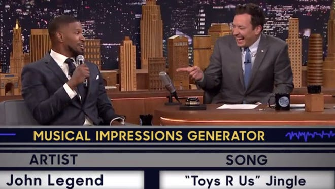Jimmy Fallon and Jamie Foxx face off with the Musical Impressions Generator.