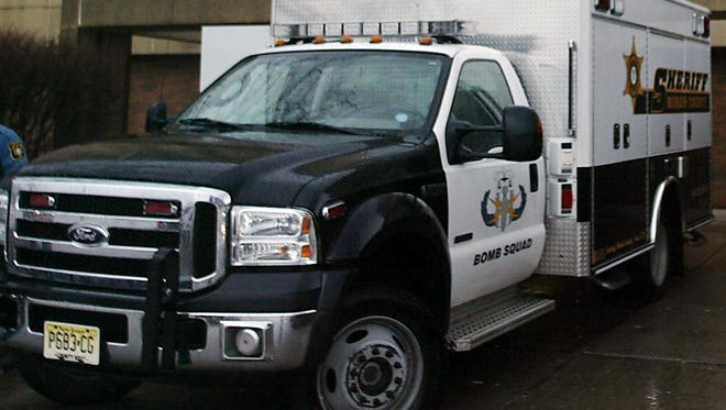 The Morris County Bomb Squad unit, shown here in a file photo.