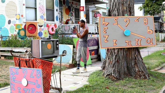 The Heidelberg Project, an installation on Detroit's east side, is one of the city's art landmarks.