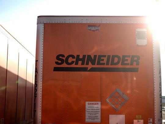 A Schneider truck.