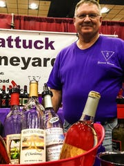 Owner and vintner Brad Shattuck of Shattuck Vineyard in Caballo, New Mexico. Shattuck  grows and produces 100 percent of his wine.