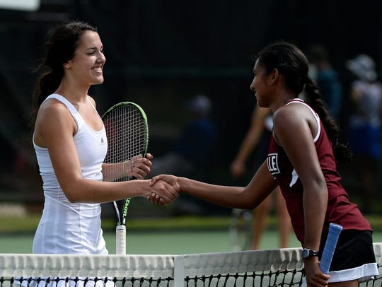 Somer Henry of Brentwood, left, and Sneha Sinha of Collierville