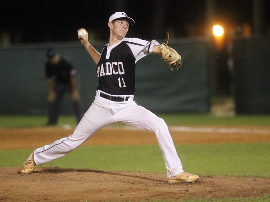 Madison County pitcher Dilan Lawson struck out 10 batters against Lafayette in a Region 3-1A final at Suwannee High in Live Oak.
