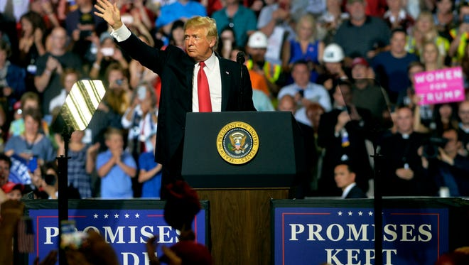President Donald Trump visited Great Falls for a campaign rally in the Four Seasons Arena on Thursday, July 5, 2018. The president will return to Montana for a rally in Billings on Sept. 6.