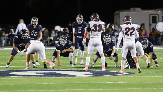 Greenwood's offense takes the field against Benton in the second quarter, Friday, Oct. 23, at Smith-Robinson Stadium.