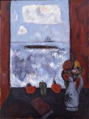 "Marsden Hartley, ""Summer, Sea, Window, Red Curtain,"""