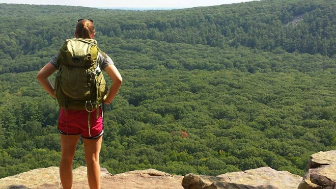 Backpacking at Devil's Lake State Park.