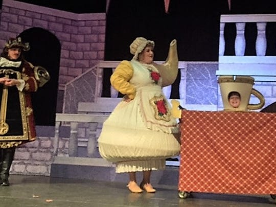 """See """"Beauty and the Beast"""" at the Voorhees Theatre Company and take a selfie with Belle and Mrs. Potts."""