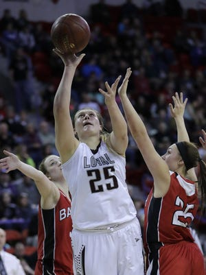Loyal High School's Karsyn Rueth was one of four local players to be named honorable mention to the Associated Press All-State girls basketball team Thursday.