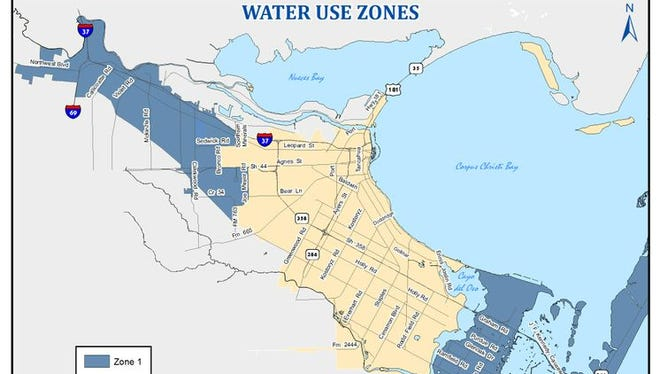 This map shows the boundaries for Zone 1, where the City of Corpus Christi says it's safe to use tap water. All other areas should avoid using tap water for any purpose.