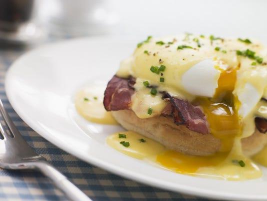 Plate of Eggs Benedict