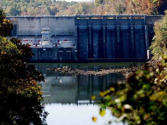 A general view of Boone Dam outside of Kingsport, Tennessee, on Wednesday, October 4, 2017. TVA is in the process of modernizing and updating its systems of dams and reservoirs throughout the Tennessee River Valley.