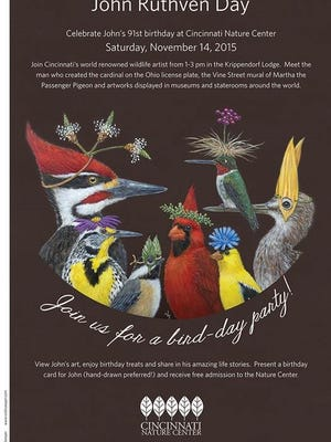 The flier for John Ruthven Day at the Cincinnati Nature Center on Saturday, Nov. 14.