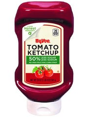 Ketchup and other Hy-Vee brand products are free of synthetic chemicals or artificial ingredients as part of the company's Clean Honest program.