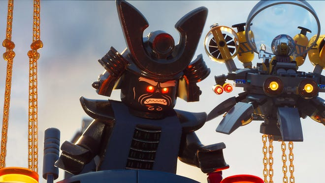 Lord Garmadon (voiced by Justin Theroux) attacks Ninjago City for the umpteenth time in 'The Lego Ninjago Movie.'