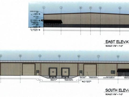 Renderings of Metallic Tube Applications, LLC's new facility. Owner Rick Brickner hopes to move in by July.