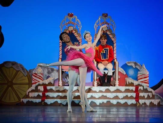 The Cavalier and Sugar Plum Fairy dance in the Land