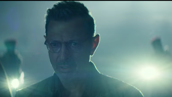 Be concerned whenever Jeff Goldblum looks like this