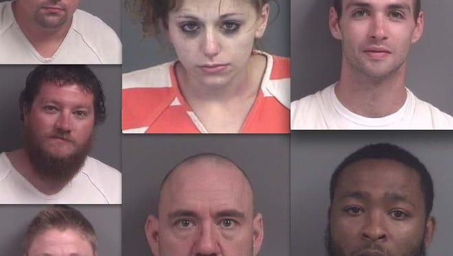 Clockwise, from top left: Kenny Walker, Angelina Bonasera, Luke Yates, Cedrick Paige, Paul Haley, Michelle Delaney and Jeremy Slayden.