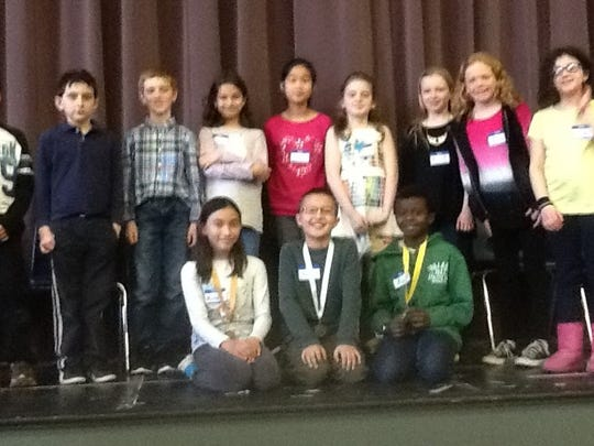 The fourth-grade spelling bee finalists at Ridgewood