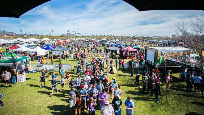 The scene at the Strong Beer Festival, a part of Arizona Beer Week.