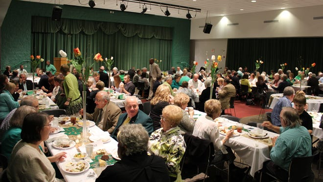 While the banquet had competition on the schedule for the first time, it didn't hurt attendance.