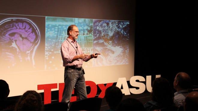 Bertram Jacobs, an Arizona State University professor developing a potential HIV vaccine, spoke at TEDxASU in Tempe in 2016.