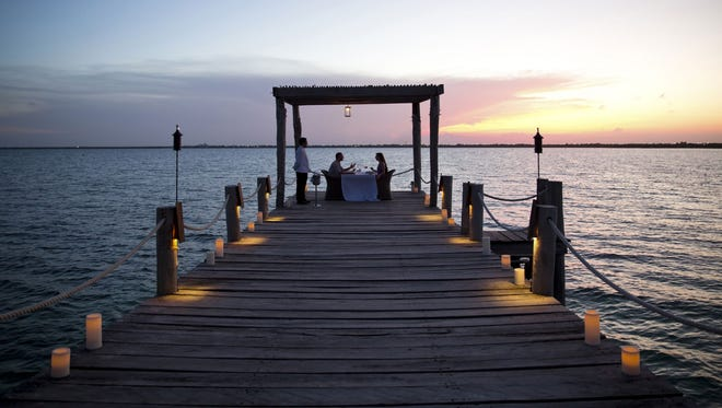 Couples can arrange a private and romantic dining experience at NIZUC Resort & Spa.