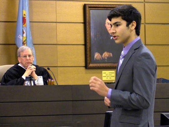 Lucas Saffos represented Red Lion Christian Academy at the Mock Trial Competition.