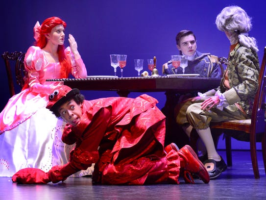 Ariel, left, played by Anneliese Reichart, Prince Eric,