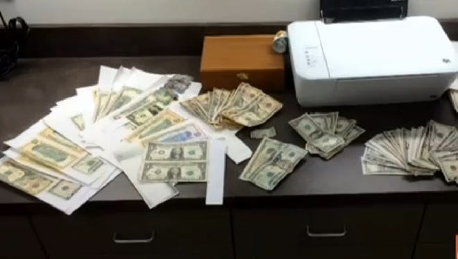 Pearl police arrested a couple for counterfeiting Thursday.