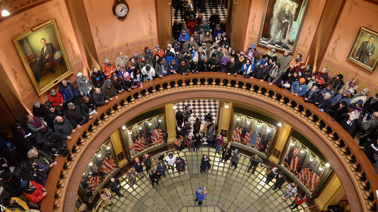 Protesters at Capitol before Electoral College vote