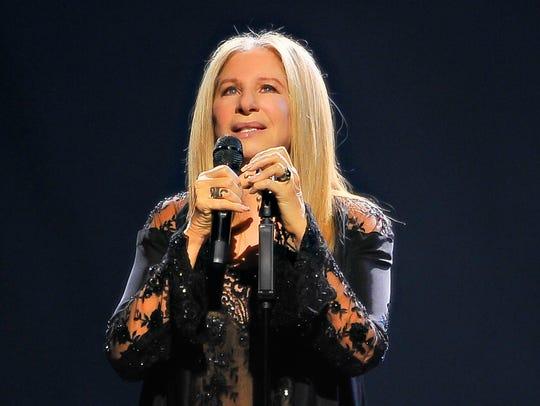 Barbra Streisand performs onstage during the 'Barbra: