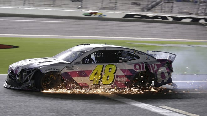 Jimmie Johnson missed the NASCAR playoff field this year by six points after a crash with two laps left in Saturday's race at Daytona. The veteran driver was hoping to win a record eighth points title.