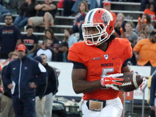 UTEP wide receiver Warren Redix is one of the returning receivers for the Miners.