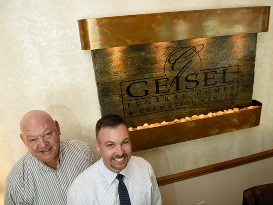 Thomas Geisel, and and his son, Tommy  Geisel, run Geisel Funeral Home, 333 Falling Spring Rd., Chambersburg.  The business has been in the family for generations.