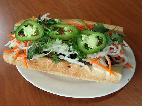 Banh mi sandwiches are among the most popular items at 4 Sisters Pho.