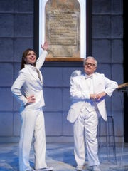 """Paige Davis and James Gleason in Arizona Theatre Company's production of """"An Act of God."""""""
